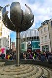 AACHEN, DEUTSCHLAND - 28. OKTOBER 2015: Das neue AQUIS-PIAZZA-Einkaufszentrum ist in Aachen geöffnet Lizenzfreie Stockfotografie