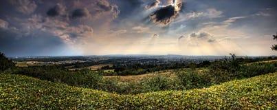 Aachen, Deutschland, Panorama Lizenzfreie Stockfotografie