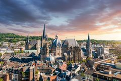 City of Aachen, Germany stock photos