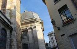 Aachen domkyrka Detaljer av Aix-la-Chapelle, Roman Catholic kyrka i Aachen, Västtyskland fotografering för bildbyråer