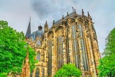 Aachen domkyrka, en UNESCOvärldsarv i Tyskland Arkivfoton