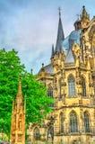 Aachen domkyrka, en UNESCOvärldsarv i Tyskland Arkivbild