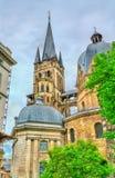 Aachen domkyrka, en UNESCOvärldsarv i Tyskland Royaltyfria Bilder