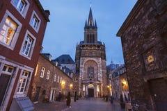 Aachen domkyrka i Aachen Arkivbilder