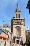 Aachen domkyrka i Tyskland Royaltyfria Foton