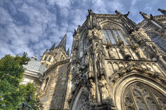 Aachen domkyrka i Tyskland Arkivfoton