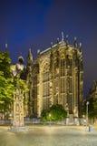 Aachen domkyrkakör på natten Arkivfoton