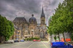 Aachen domkyrkaTyskland Arkivbilder