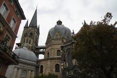 Aachen domkyrkaTyskland Arkivbild