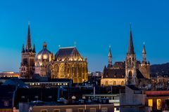 Aachen, Germany. City of Aachen, Germany during summer stock image
