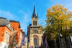 Historic Aachen Cathedral in Aachen, Germany royalty free stock images