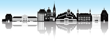 Aachen horisont vektor illustrationer