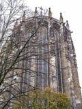 Aachen-Kathedrale, Deutschland, Äußere Ansicht des gotischen Chores stockbilder