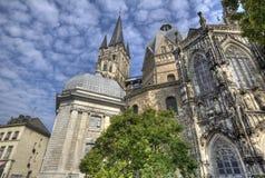 Aachen-Kathedrale in Deutschland Lizenzfreies Stockbild