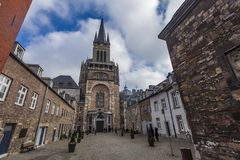 Aachen-Kathedrale in Deutschland Stockfotos