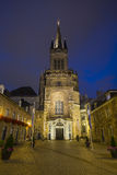 Aachen Kathedrale und Domhof nachts Stockfotografie