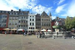 Aachen - marknadsfyrkant Arkivbilder