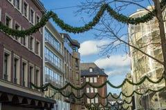 Aachen modern och forntida stad Royaltyfri Fotografi