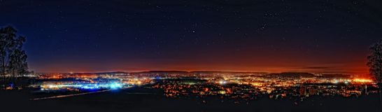 Aachen nachts Stockfoto
