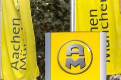 Aachen, North Rhine-Westphalia/germany - 06 11 18: aachener münchener sign in aachen germany. Aachen, North Rhine-Westphalia/germany - 06 11 18: an aachener m royalty free stock photos