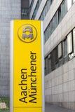 Aachen, North Rhine-Westphalia/germany - 06 11 18: aachener münchener sign in aachen germany. Aachen, North Rhine-Westphalia/germany - 06 11 18: an aachener m stock photo