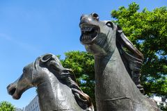Horse group bronze by Bonifatius Stirnberg, Aachen Royalty Free Stock Images
