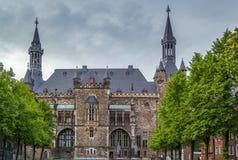 Aachen Rathaus stadshus, Tyskland Royaltyfri Fotografi