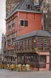 Aachen Rathaus stadshus, Tyskland Arkivbild
