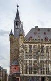 Aachen Rathaus (stadshuset), Tyskland Royaltyfri Fotografi