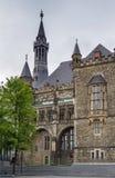 Aachen Rathaus (stadshuset), Tyskland Arkivbild