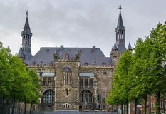 Aachen Rathaus (stadshuset), Tyskland Arkivbilder