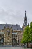 Aachen Rathaus (stadshuset), Tyskland Arkivfoto