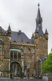 Aachen Rathaus (stadshuset), Tyskland Arkivfoton
