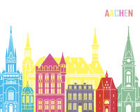 Aachen skyline pop. In editable vector file Stock Images