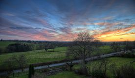 Aachen-Sonnenuntergang Stockfotos