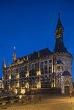 Aachen stad Hall At Night, Tyskland Arkivbild