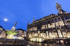 Aachen stadshus Arkivfoton