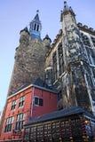 Aachen stadshus Arkivfoto