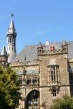 Aachen stadshus i Tyskland Royaltyfri Foto