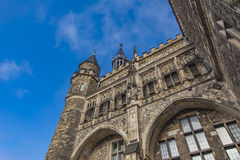 Aachen stadshus i Tyskland Royaltyfria Bilder