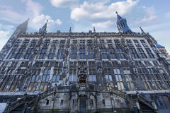 Aachen stadshus i Tyskland Royaltyfria Foton