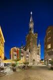 Aachen-Stadt Hall At Night, Deutschland Stockbild