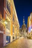 Aachen-Stadt Hall At Night, Deutschland Lizenzfreie Stockfotografie