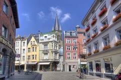 Aachen-Straße in Deutschland Stockfotografie