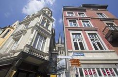 Aachen Streetcorner Fotografering för Bildbyråer