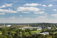 Aachen Tivoli och Hauptstadion stadionsikt Arkivfoton