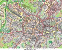 Aachen TysklandEuropa hög res flyg- sikt Royaltyfria Bilder