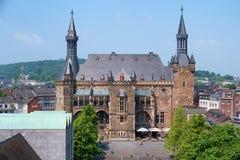 Aachen urząd miasta Zdjęcie Royalty Free