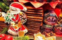 Aachener Printen- Lebkuchen är liknande till pepparkakan som sötas ursprungligen med honung, men för två århundraden är tradition Royaltyfri Fotografi