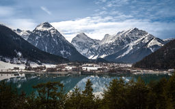 Aachensee and the Alps Stock Photography